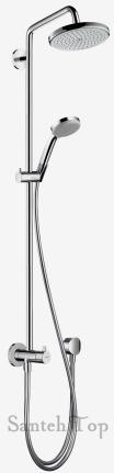 hansgrohe croma 220 showerpipe 27224000. Black Bedroom Furniture Sets. Home Design Ideas
