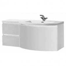 База под раковину BelBagno Prospero PROSPERO-1200-3C-SO-BL-RIGHT 121x48,5x51 белый глянцевый
